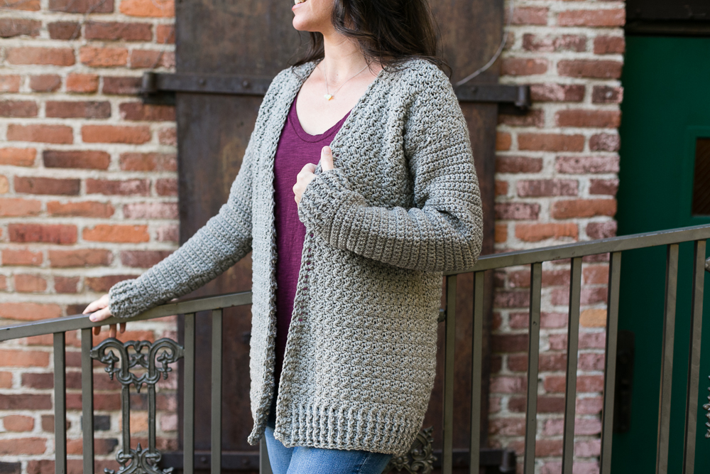 Easy Everyday Crochet Cardigan Pattern Teal Finch