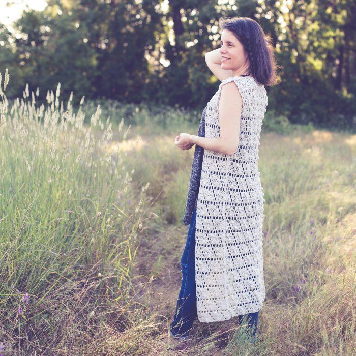 Summer Pop Vest free crochet pattern for women XS-2X.